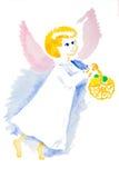 Acuarela del ángel de Pascua aislada stock de ilustración