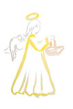 Acuarela del ángel de Pascua aislada ilustración del vector
