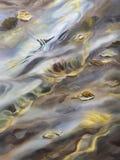 Acuarela del agua de la caída imagenes de archivo