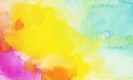 Acuarela del arco iris y fondo coloridos de las texturas del aguazo libre illustration