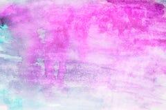 Acuarela del fondo, color púrpura manchas púrpuras brillantes de la acuarela Foto de archivo