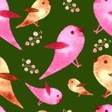 Acuarela del modelo del pájaro imagen de archivo libre de regalías