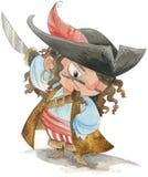 Acuarela divertida del pirata Imágenes de archivo libres de regalías