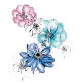 Acuarela floral Imágenes de archivo libres de regalías