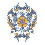 Acuarela floral del elemento del drenaje de la mano con las flores Conveniente para la impresión en tela, casandose la decoración stock de ilustración