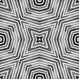 Acuarela geométrica blanco y negro Mar creativo fotos de archivo