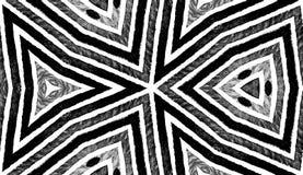 Acuarela geométrica blanco y negro oscura decente fotos de archivo