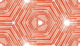 Acuarela geométrica roja Modelo inconsútil divino ilustración del vector