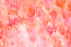 Acuarela hecha a mano anaranjada roja Imagenes de archivo