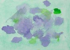 Acuarela mojada que dibuja el fondo abstracto Imágenes de archivo libres de regalías