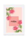 Acuarela pintada dibujada mano del ejemplo de Rose Fotografía de archivo libre de regalías