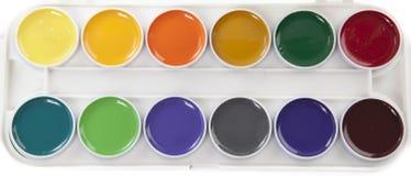 Acuarelas coloridas foto de archivo