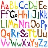 Acuarelas del alfabeto fotografía de archivo