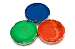 Acuarelas del RGB Imagen de archivo