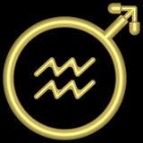 Acuario 002 del zodiaco Foto de archivo libre de regalías