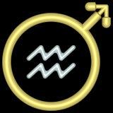 Acuario 004 del zodiaco fotos de archivo libres de regalías