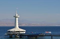 Acuario de Coral World Underwater Observatory en Eilat Israel Imágenes de archivo libres de regalías