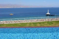 Acuario de Coral World Underwater Observatory en Eilat Israel Foto de archivo libre de regalías