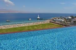 Acuario de Coral World Underwater Observatory en Eilat Israel Fotos de archivo