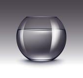 Acuario de cristal transparente de Fishbowl con agua Fotos de archivo libres de regalías