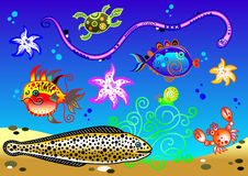 Acuario de la historieta Imagen de archivo libre de regalías