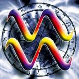 Acuario de la muestra de la astrología ilustración del vector