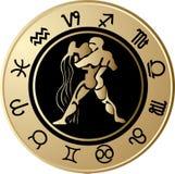Acuario del horóscopo Foto de archivo libre de regalías