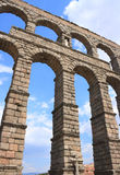 The Acueduct (Segovia, Spain). The roman Acueduct is the most emblematic of all the architectural structures in Segovia. Was in all likelihood erected in te 1st Royalty Free Stock Photos