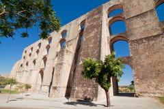 Acueducto Amoreira Elvas, Portugal foto de archivo libre de regalías