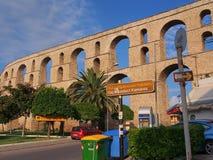 Acueducto de Kavala Foto de archivo libre de regalías