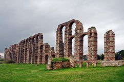 Acueducto de los Milagros (нерукотворный мост-водовод Стоковое Изображение RF