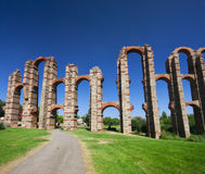 The Acueducto de los Milagros (English: Miraculous Aqueduct) is a ruined Roman aqueduct bridge, part of the aqueduct built to supp Royalty Free Stock Photography