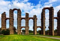 Acueducto de Los Milagros Mérida Stockfotos