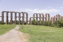 Acueducto de Los Milagros, Mérida, Spanien Lizenzfreie Stockfotos