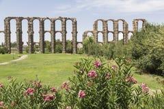 Acueducto de Los Milagros, Mérida, Spanien Stockfotos