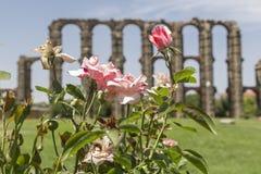 Acueducto de Los Milagros, Mérida, Spanien Stockbilder