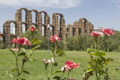 Acueducto de Los Milagros, Mérida, Spanien Lizenzfreie Stockbilder
