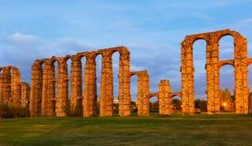 Acueducto de Los Milagros Mérida, Spanien Stockbilder
