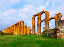 Acueducto de los Milagros. Merida, Spain Stock Photography