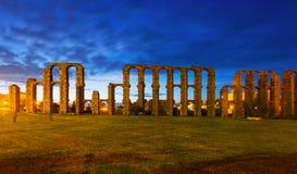 Acueducto de los Milagros in  Merida, Spain Stock Photography