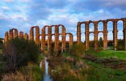 Acueducto de Los Milagros - römischer Aquädukt Mérida Lizenzfreie Stockbilder