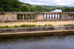Acueducto de Lune - construido en 1797 para transferir el canal de Lancaster imagenes de archivo