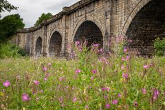 Acueducto de Lune - construido en 1797 para transferir el canal de Lancaster imagen de archivo libre de regalías