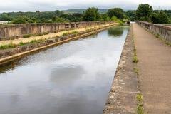 Acueducto de Lune - construido en 1797 para transferir el canal de Lancaster fotos de archivo