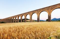 Acueducto de Noain nahe Pamplona Lizenzfreie Stockfotos