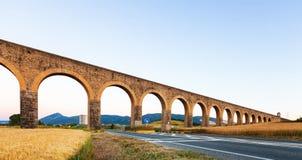 Acueducto de Noain in Navarra. Spanien Stockfoto