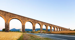 Acueducto de Noain in Navarre. Spain Stock Photo