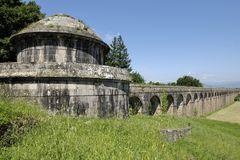 Acueducto de Nottolini en Lucca Foto de archivo libre de regalías