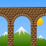 Acueducto de piedra antiguo del viaducto del puente Fotografía de archivo libre de regalías