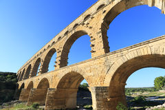 Acueducto de Pont du Gard Fotos de archivo libres de regalías